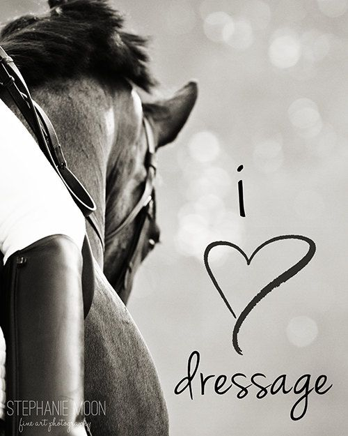 I love Dressage typography print, Dressage photography, Horse inspirational saying, Horse typography,