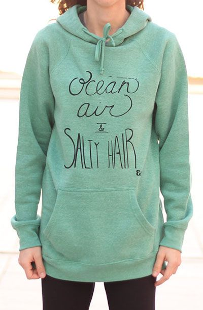 Ocean Air Salty Hair - Beach Sweater - Fleece