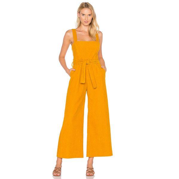 Mara Hoffman Idola Jumpsuit (235.125 CLP) ❤ liked on Polyvore featuring jumpsuits, rompers & jumpsuits, orange jumpsuit, mara hoffman jumpsuit, mara hoffman, romper jumpsuit and orange romper