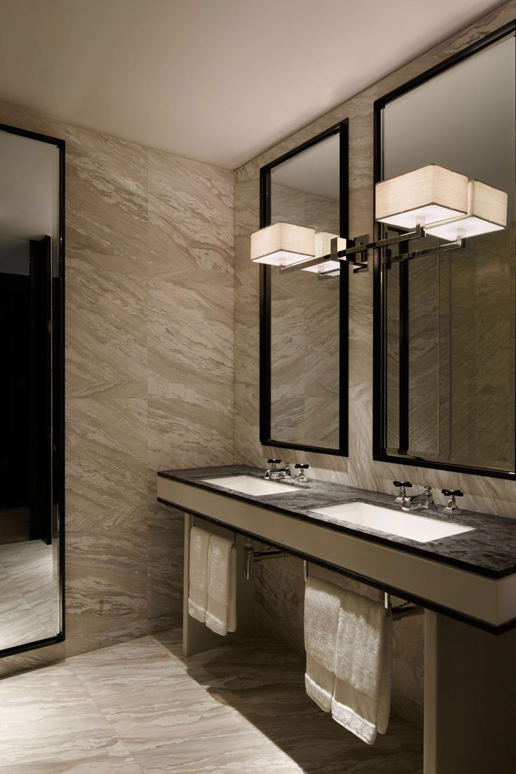 yabu pushelberg w hotel guangzhou bathroom marbledesign - Hotel Bathroom Design