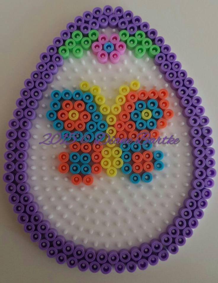 Butterfly Easter egg hama perler beads by Diane