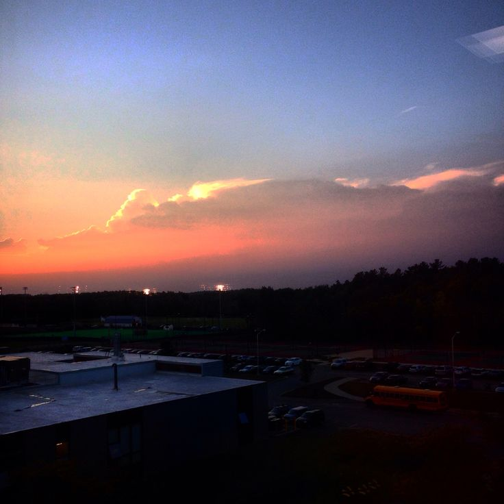 View from my Dorm  University of Maine  Orono, Maine 2015 Photo by Enya Calibuso