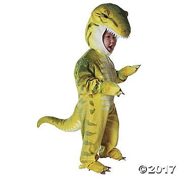 Green T-Rex Dinosaur  Halloween Costume for Toddler
