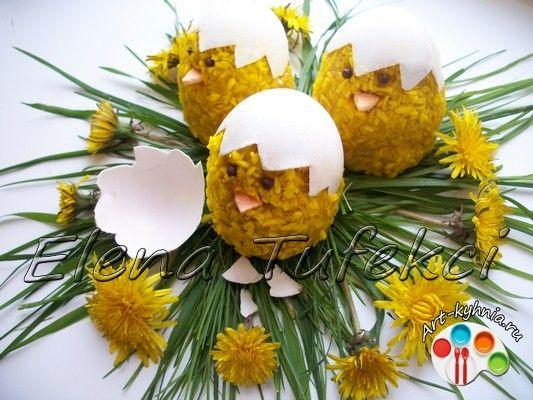 пирожные желтые птенчики