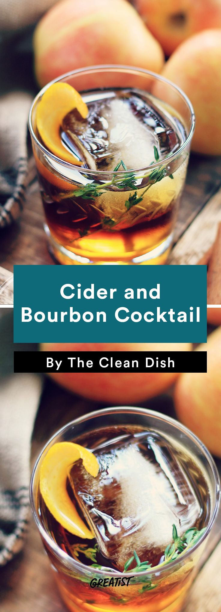 1. Cider and Bourbon Cocktail #apple #cocktails http://greatist.com/eat/apple-cocktail-recipes