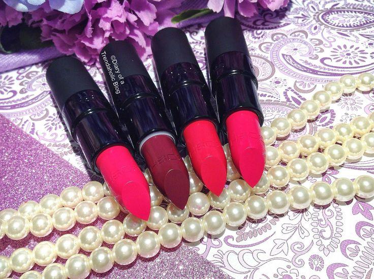 GOSH Cosmetics Velvet Touch Matte Lipsticks (review & swatches)
