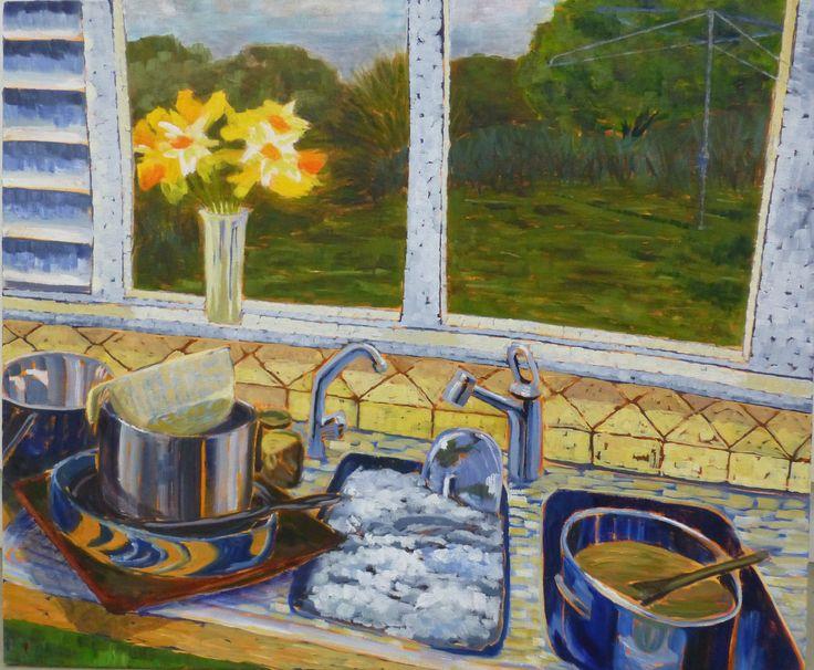 "Joanna Mansueto ""daily domestics"" oil on canvas 2013"
