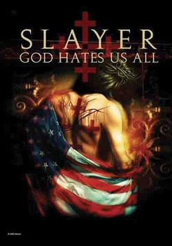 """#Slayer"""" God Hates Us All"""" Fabric Posters - Madcap Music and More.com  #  $14.95"""