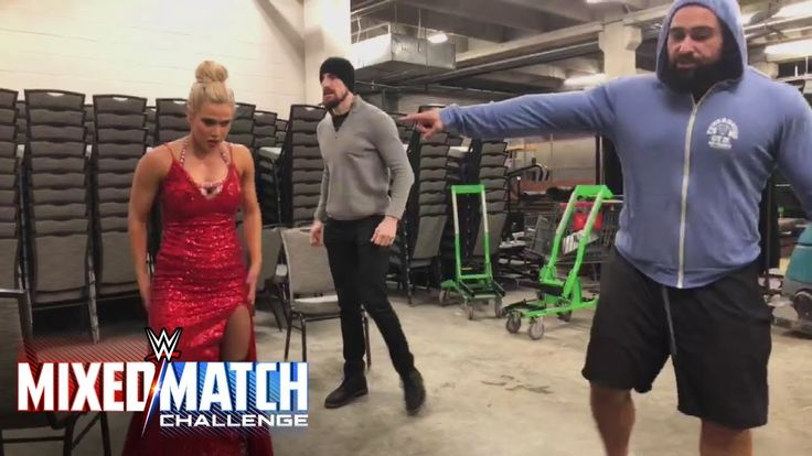 Rusev and Aiden English put Lana through the paces en route to WWE Mixed Match Challenge      The Bulgarian Brute and his singing cohort aim to get The Ravishing Russian pumped up for her match on WWE Mixed Match Challenge. Watch WWE Mixed Match Chall... https://www.youtube.com/watch?v=x-Uh45zb3ao
