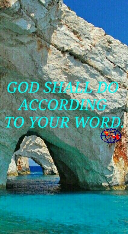 INSPIRATION: GOD WANTS TO DO ACCORDING TO YOUR WORD.  The jar of meal didn't empty, neither did the cruse of oil fail, according to the word of Jehovah, which he spake by Elijah. (1 Kings 17:16)  Elijah loved God and did according to the word of God, so God did according to the word of Elijah. Jesus told Peter if you love me take care of my sheep. His most trusted job having miracles.  God commands love your God. Because you love Him, He will do according to your word. Have a blessed day