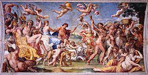 """""""El triunfo de Baco y Ariadna""""  Autor: Annibale Carracci  Estilo: Barroco italiano Fecha: 1602 Localización: Palacio Farnese Material: Fresco"""
