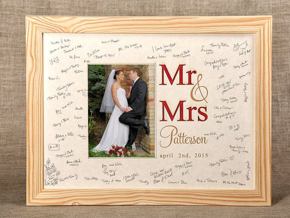 Wedding Guest Book Alternative Photoframe Memory Wood