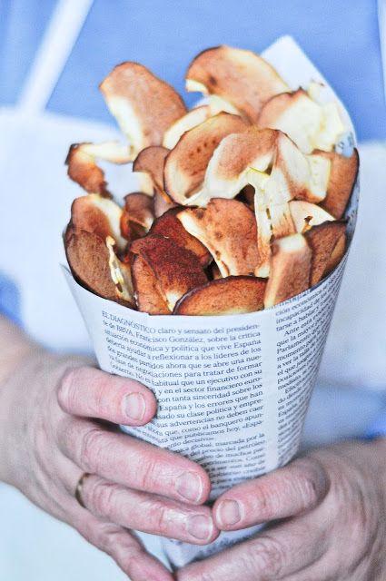 OBSESIÓN CUPCAKE: Chips de Manzana Horneadas