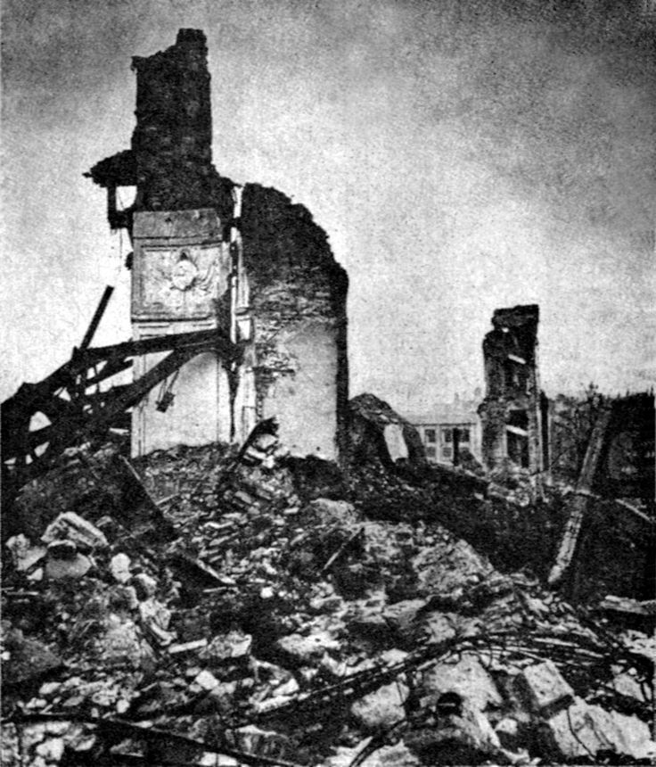 Royal Castle in Warsaw on January 1945. The Castle was deliberately destroyed by the Germans in 1944 [11271318]