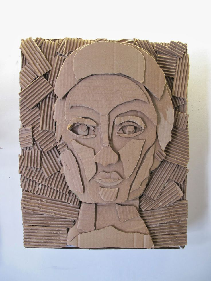 The Visual Arts at Germantown Academy: Cardboard Relief Portraits
