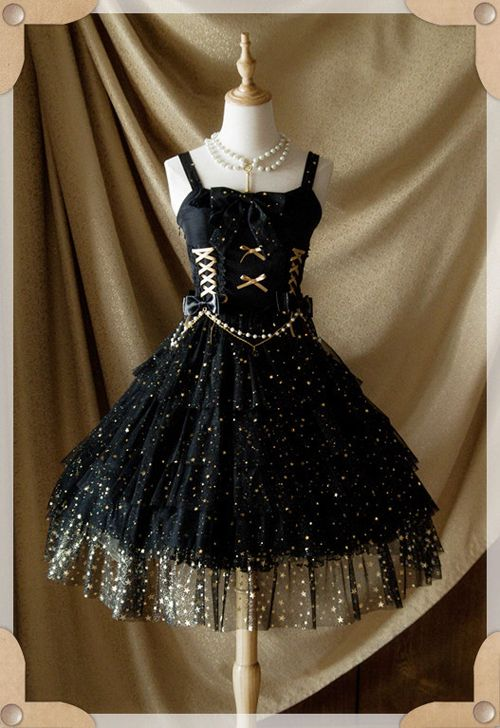 Reminder: The Pre-order for [-★-Mist Starry Sky Lolita JSK-★-] will END Tomorrow >>> http://www.my-lolita-dress.com/belle-langue-mist-starry-sky-lolita-jumper-dress-bl-1