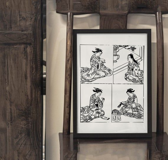 Japanese Wall Art Perfect To Decorate Your Home Or Office We Print Each Poster On Premium 190gsm Satin Japanese Wall Art Japan Wall Art Vintage Asian Art