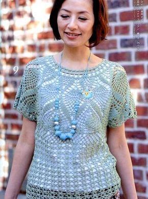 Delicadezas en crochet Gabriela: Remeras con moldes