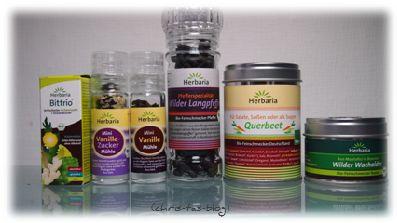 Herbaria Produktpaket: süß und herb   Chris-Ta´s Blog #gewürze #kräuter