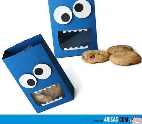 ♪♫ Ideas para fiestas infantiles ♪♫: Monstruo come galletas