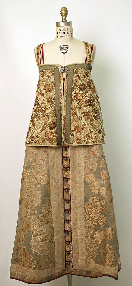 19th century Russian overdress ( epanechka or dushegreya) and sleeveless dress- sarafan