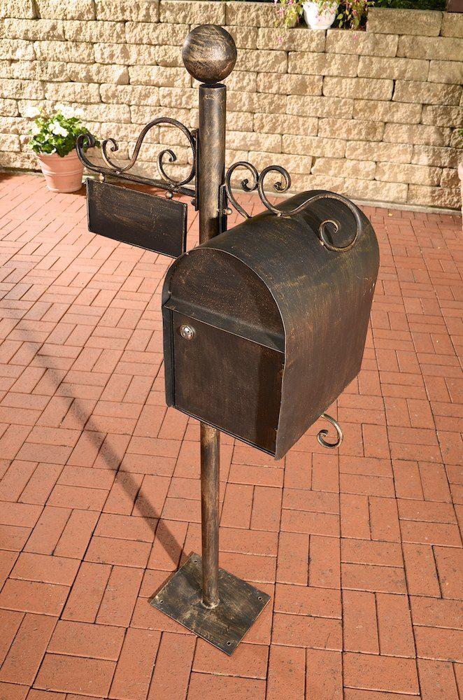 Briefkasten-CHARLIZE-Postkasten-Mailbox-Eisen-Antik-Stil-Stand-Namenschild-NEU