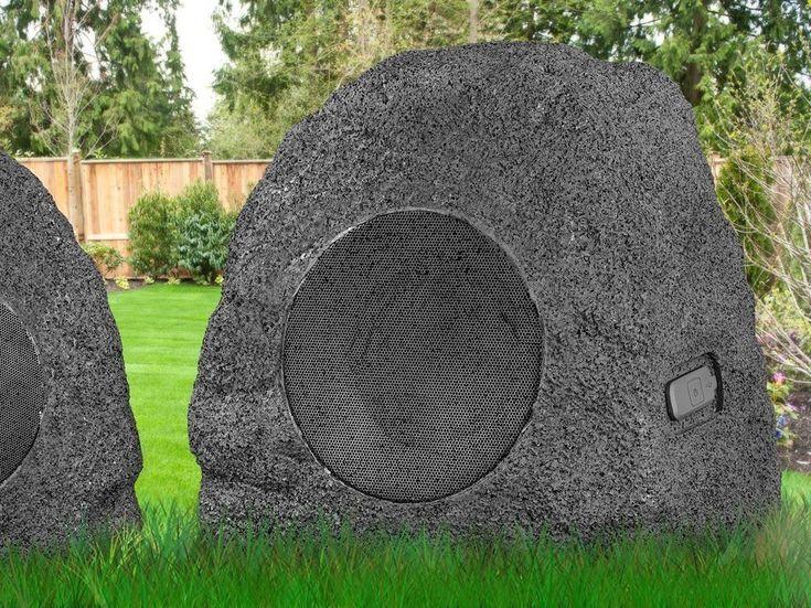 Premium 5-Watt Bluetooth Outdoor Rock Speakers #outdoor, #rock, #speaker