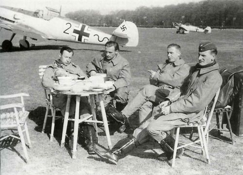 Luftwaffe pilots during Battle of Britain