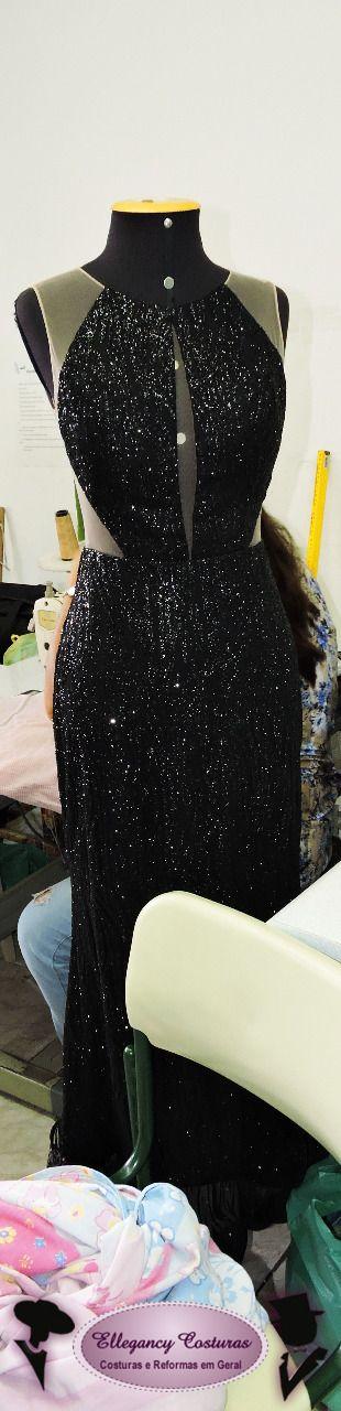 Ajustes em vestidos com pedrarias  #bordadosepedrarias #vestidodefesta #ellegancycosturas