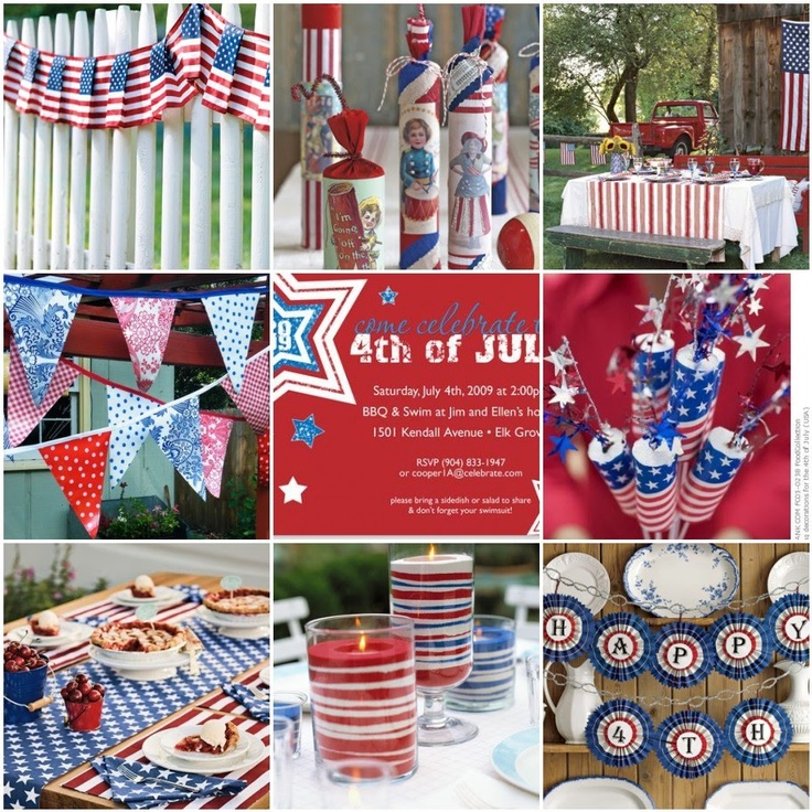 Peach Pizzazz!: Fourth of July Decor Inspiration