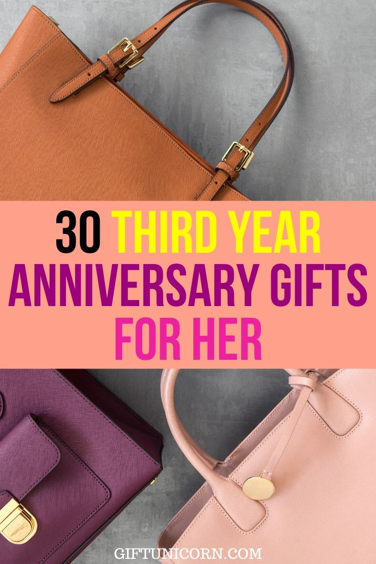 30 leather anniversary gifts for her 3rd year