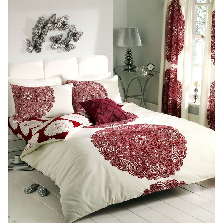 home design bedding. Gaveno Cavailia Manhattan Complete Bedding Set with Curtains in Cream and Deep Red A SS 1 jpg  1500 846 best collocation images on Pinterest Comforter