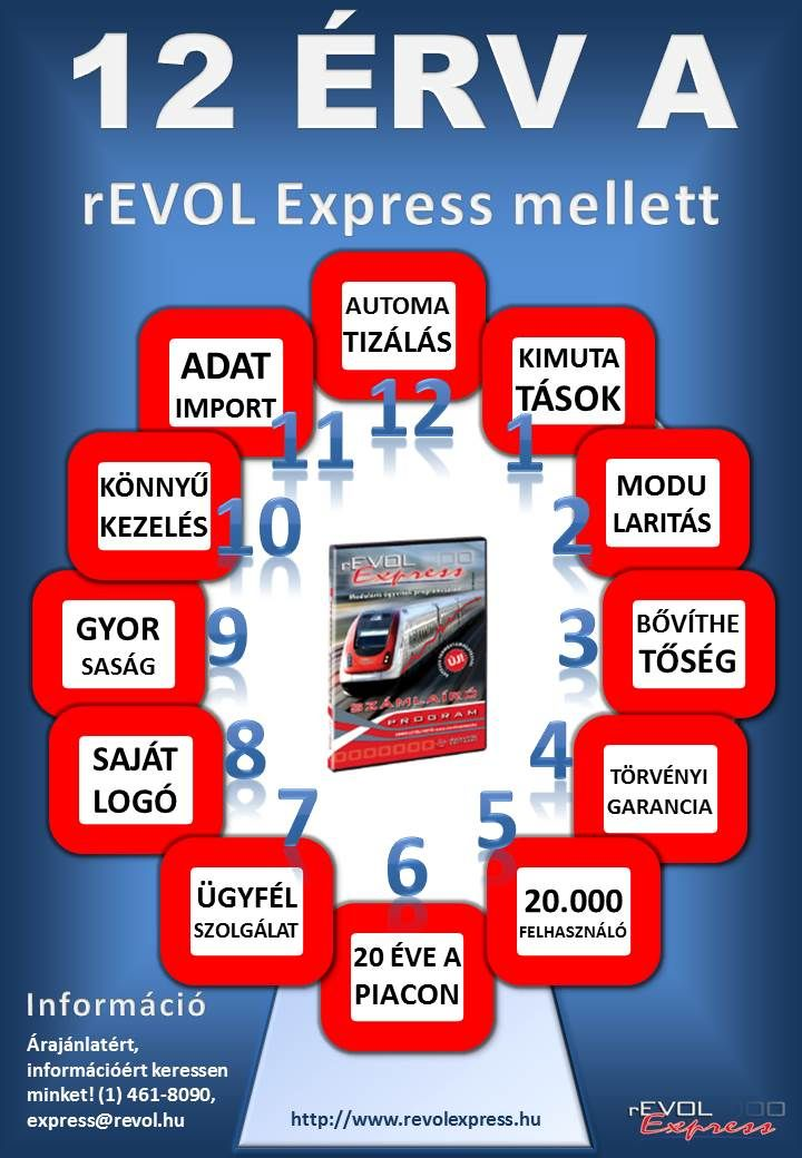 12 megingathatatlan érv a rEVOL Express mellett: http://www.revolexpress.hu/blog/12-erv-a-revol-express-mellett/