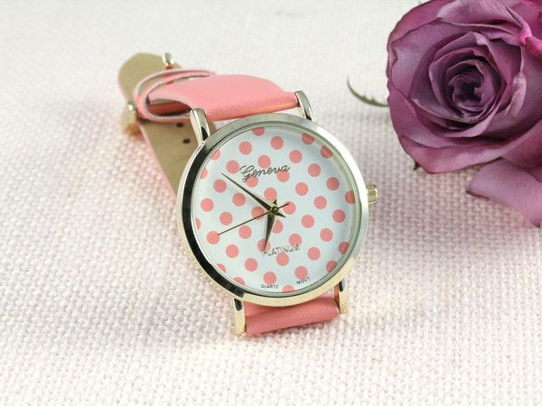 Polka Dot Print Watch from Hello Miss Apple www.hellomissapple.com #hellomissapple #watch #fashion #jewelry