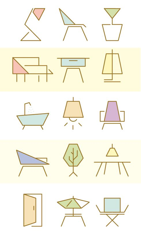 furniture icon set for manuela naranjo interior design - Interior Design Logo Ideas