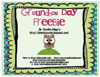 FREEBIE Groundhog Day Craftivity with Writing   - Pinned by @PediaStaff – Please Visit http://ht.ly/63sNt for all our pediatric therapy pins