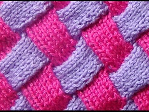 Como Tejer ENTRELAC-How to Knit Entrelac 2 Agujas (233) - YouTube