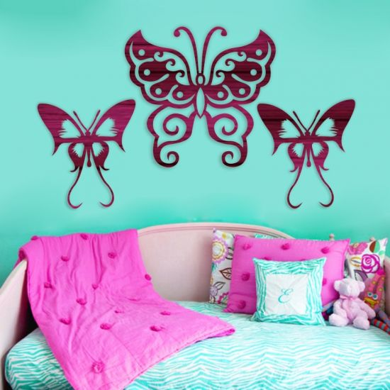 Template, laser cut Butterflies. Buy this template, design, pattern.These laser cut butterfly, are all laser ready. Use it for kids bedroom decor, stencils, invitations, wooden box, paper, hardboard, kids toys, puzzles, scroll saw patterns, Download vector file PDF, AI, EPS, SVG, CDR x4. Use your favorite editing program to scale this vector to any size. You can add and remove elements or personalize the design. Our templates are all tested. Free designs every day. Pay with PayPal and other.