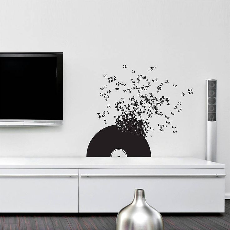Vinyl Record Wall Sticker by Sirface Graphics. Bring you walls to life with this dynamic Musical Notes Wall Decal. You can use it above shelving, sofas and other pieces of furniture around the house to give it an extra touch.