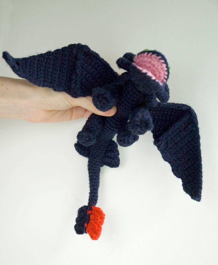 Toothless crochet pattern / dragon amigurumi tutorial by #tinyAlchemy