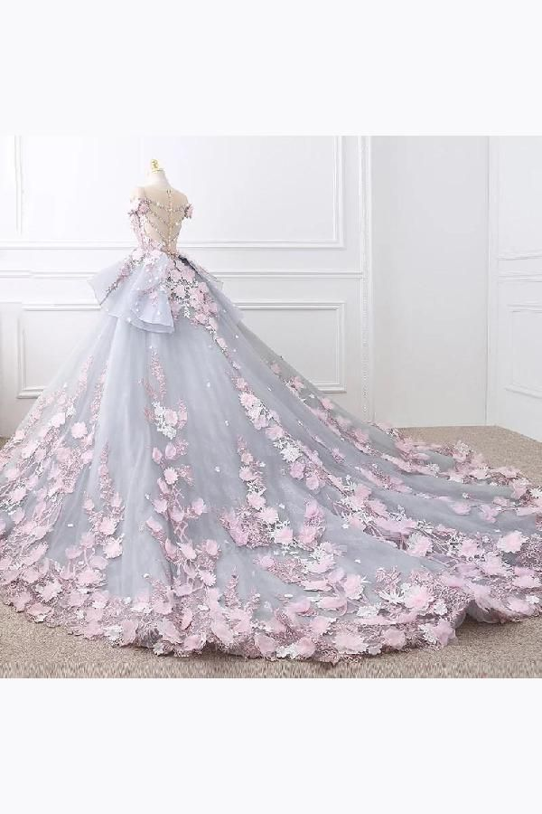 Ball Gown Wedding Dresses Lace Wedding Dresses Wedding Dresses Wedding Dresses For Che Floral Wedding Gown Floral Lace Wedding Dress Ball Gown Wedding Dress