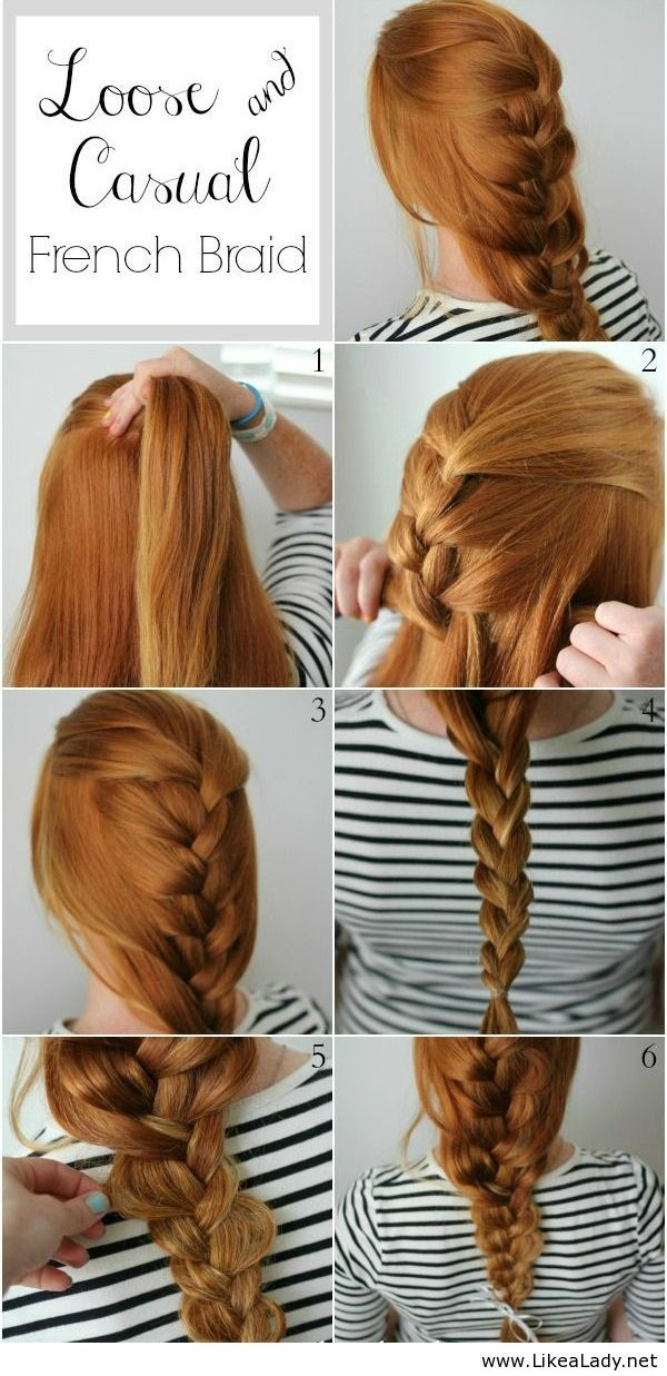 Loose and casual french braid