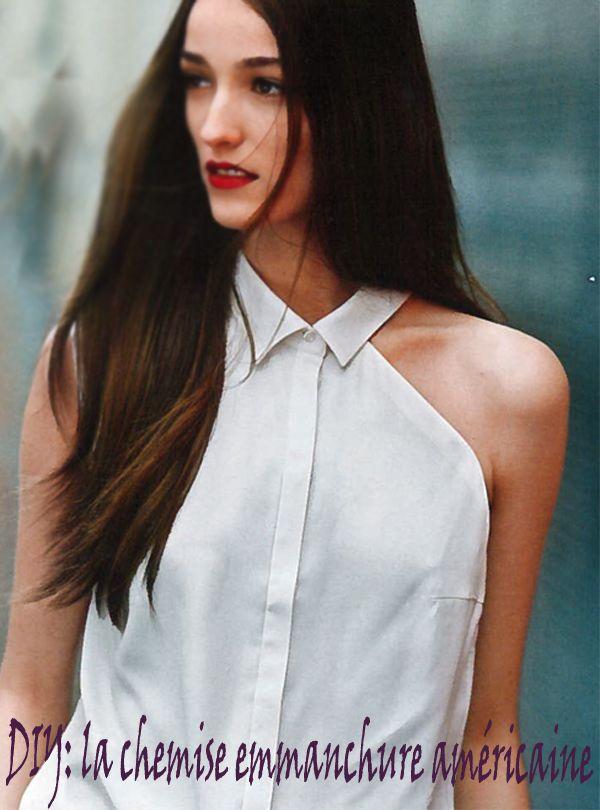 DIY chemise emmanchure américaine