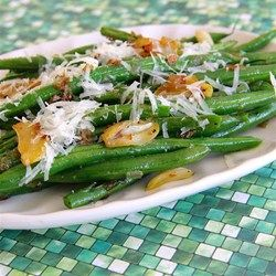 "Garlicky Green Beans with Shallot | ""Absolutely delicious way to dress up green beans. Onion and shallot became caramelized as the green beans cooked! Yum!"""