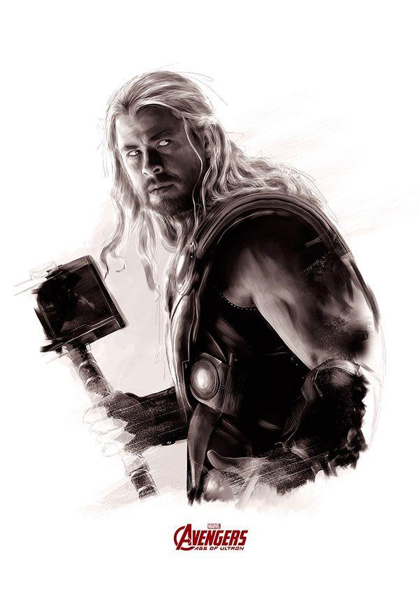 Chris Hemsworth as Thor - Avengers: Age of Ultron by Richard Davies