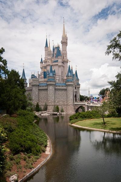 The famous castle at Disneyworld in Orlando Florida