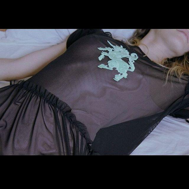 Unicorns hepl you dream.Dream on ☁⛅is the begginin of all   #black dress #unicorn #sheer dress #off shoulder #black tulle