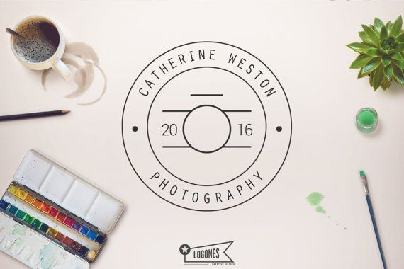 Retro LogoPhotography Logo Camera Logo Instant Download by Logones