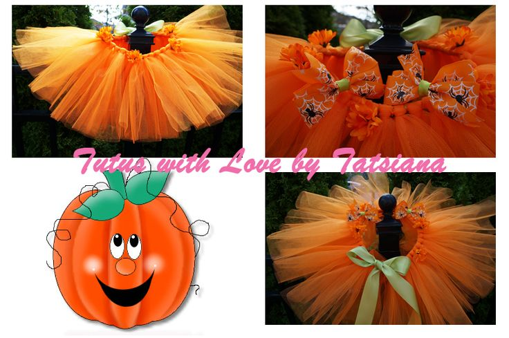 Very sweet pumpkin skirt and 2 matching bows. Will make your little one absolutely shine this autumn season.