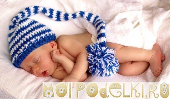 Детские вязаные шапки полосатый колпак Эльфа I Вязание для детей I Поделки своими руками #moipodelki #моиподелки http://moipodelki.ru/article/view/detskie_vyazanie_shapki_kolpak_elfa-148.html